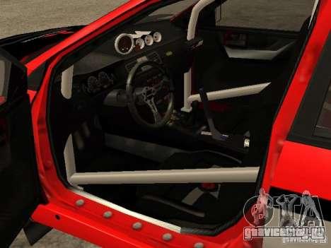 Mitsubishi Lancer Evo IX DiRT2 для GTA San Andreas вид изнутри
