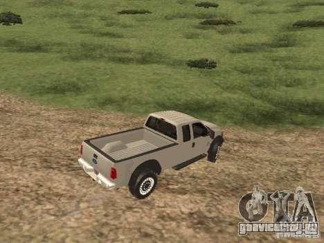 Ford Super Duty F-550 для GTA San Andreas вид сзади слева