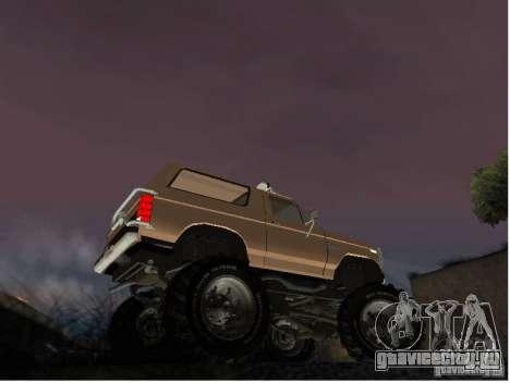 Ford Bronco IV Monster для GTA San Andreas вид сзади слева
