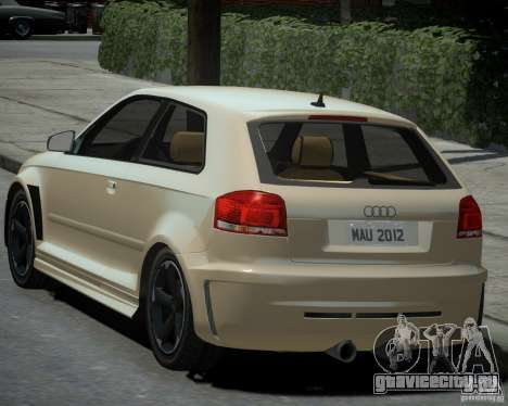Audi S3 v2.0 для GTA 4 вид слева