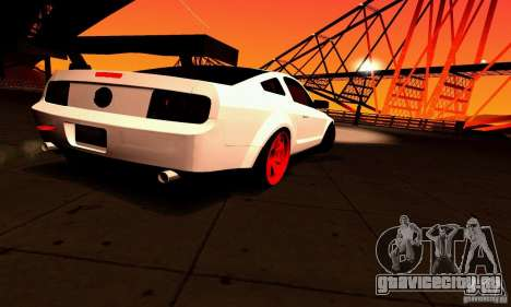 Shelby GT500 KR для GTA San Andreas салон