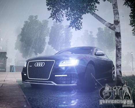 Audi RS5 2010 для GTA 4 вид сзади