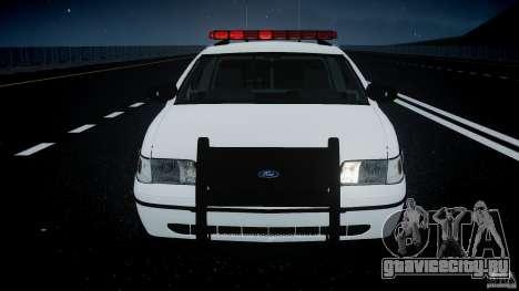Ford Crown Victoria 2003 FBI Police V2.0 [ELS] для GTA 4