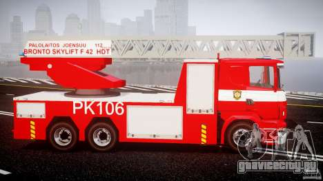 Scania R580 Fire ladder PK106 [ELS] для GTA 4