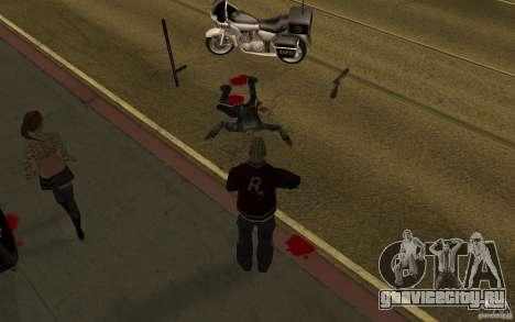 CLEO мод: Оживление Пешеходов v1.0 для GTA San Andreas второй скриншот