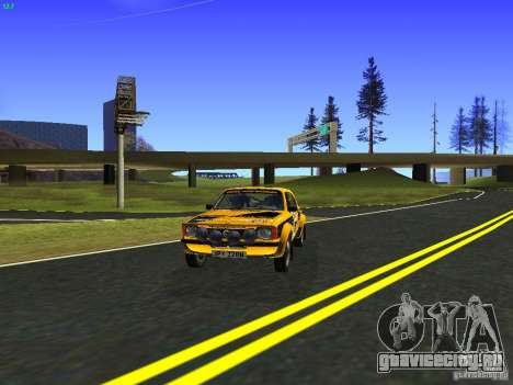 Opel Kadett для GTA San Andreas вид сзади слева