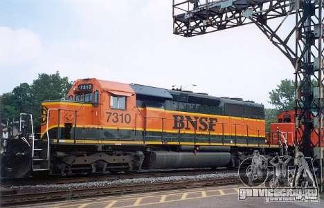 Локомотив SD 40 Union Pacific BNSF для GTA San Andreas вид сзади