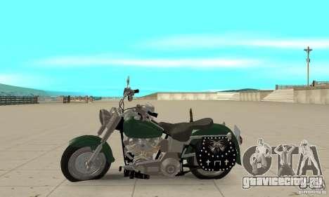 Harley Davidson FLSTF (Fat Boy) v2.0 Skin 1 для GTA San Andreas вид слева