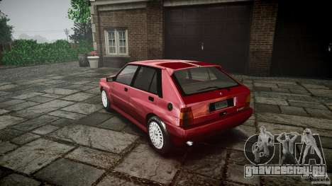 Lancia Delta HF Integrale Dealers Collection для GTA 4 вид сзади слева