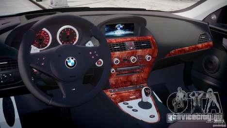 BMW M6 2010 v1.5 для GTA 4 вид справа