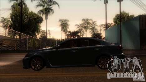 Lexus IS-F для GTA San Andreas вид слева