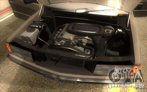 Mercedes-Benz 190E W201 для GTA San Andreas вид изнутри
