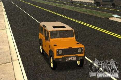 Land Rover Defender 110 для GTA San Andreas вид сзади