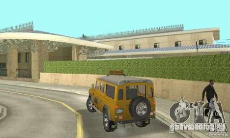Land Rover Defender 110SW Taxi для GTA San Andreas вид слева