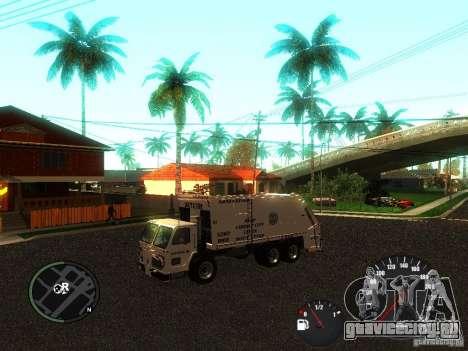 Мусорщик из ГТА 4 для GTA San Andreas вид сзади слева