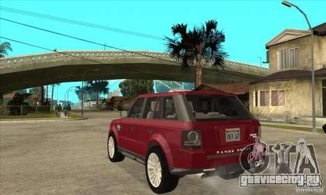 Land Rover Range Rover Sport HSE для GTA San Andreas вид сзади слева