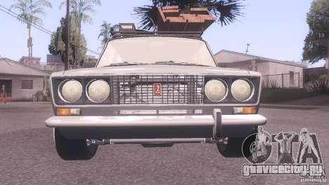 ВАЗ 2106 Tuning Rat Style для GTA San Andreas вид сзади слева