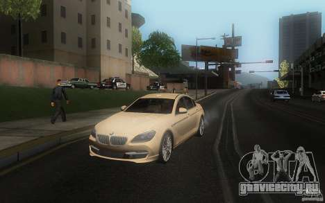 BMW 6 Series Gran Coupe 2013 для GTA San Andreas вид справа