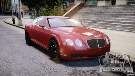 Bentley Continental GT 2004 для GTA 4 вид сзади