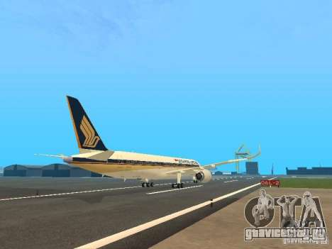 Airbus A350-900 Singapore Airlines для GTA San Andreas вид справа