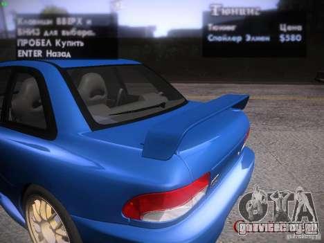 Subaru Impreza 22b Tunable для GTA San Andreas вид сверху