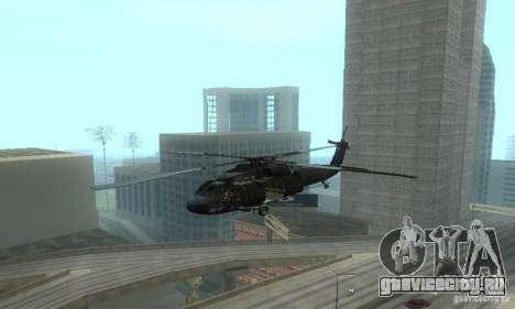 UH-60M Black Hawk для GTA San Andreas вид изнутри