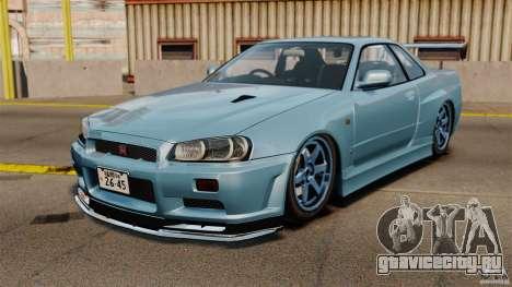 Nissan Skyline GT-R (BNR34) 2002 для GTA 4