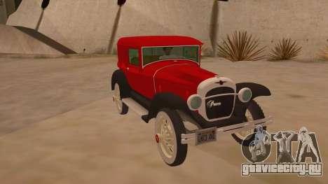 Pearce 1931 для GTA San Andreas вид сзади