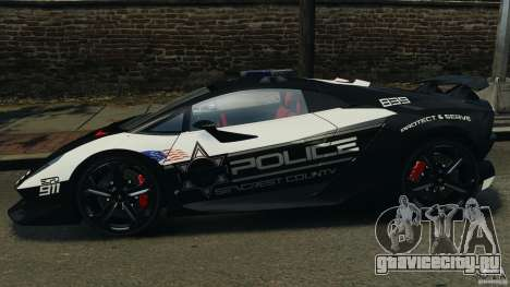 Lamborghini Sesto Elemento 2011 Police v1.0 RIV для GTA 4 вид слева