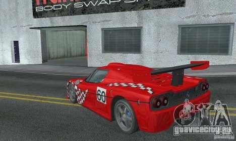 Ferrari F50 GT (v1.0.0) для GTA San Andreas вид сзади слева