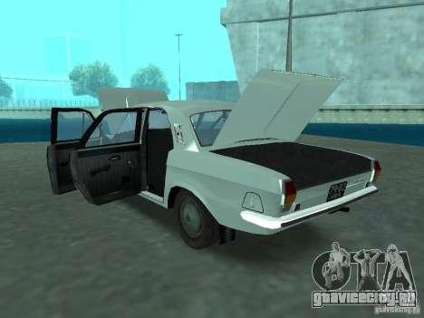 ГАЗ 24Р для GTA San Andreas вид изнутри