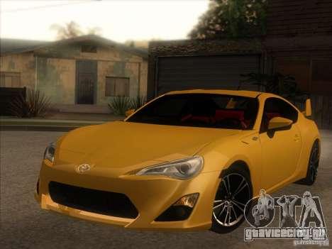 Toyota GT86 2012 для GTA San Andreas