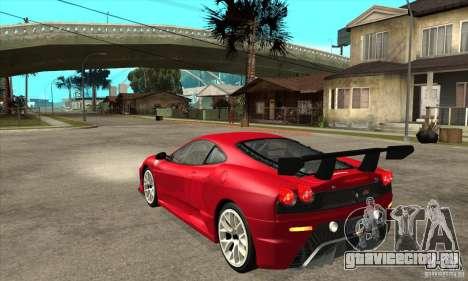 Ferrari F430 Scuderia 2007 FM3 для GTA San Andreas вид сзади слева