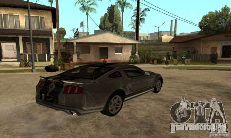Ford Mustang Shelby 2010 для GTA San Andreas вид сзади слева