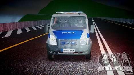 Ford Transit Polish Police [ELS] для GTA 4 вид сверху