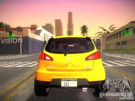 Mitsubishi Colt Rallyart для GTA San Andreas вид справа