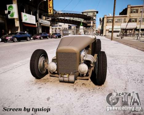 Roadster High Boy для GTA 4 вид слева