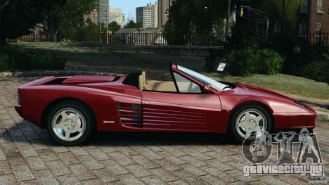 Ferrari Testarossa Spider custom v1.0 для GTA 4 вид слева