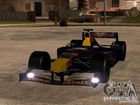 F1 Red Bull Sport для GTA San Andreas вид сзади