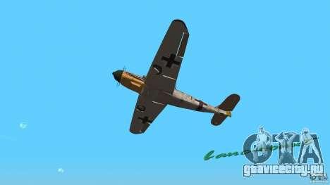 WW2 War Bomber для GTA Vice City вид сзади