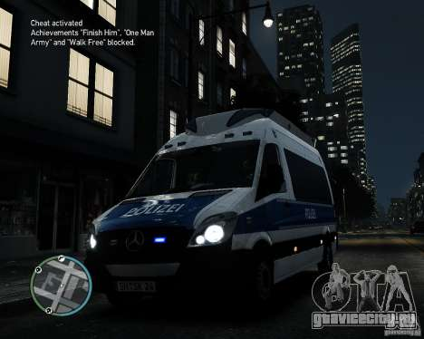 Mercedes Sprinter German Police для GTA 4