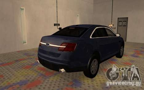 Ford Taurus Interceptor Unmarked 2013 для GTA San Andreas вид сзади слева