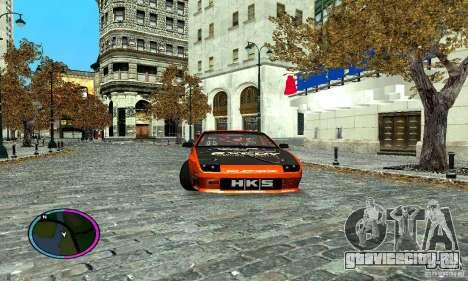Mazda RX-7 FC for Drag для GTA San Andreas вид сзади слева