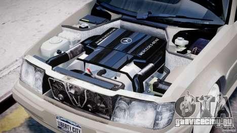 Mercedes-Benz W124 E500 1995 для GTA 4 вид изнутри