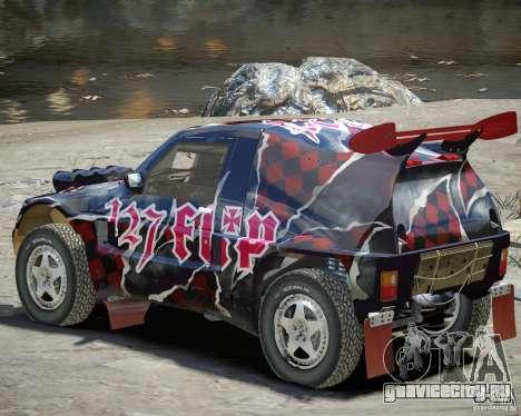 Mitsubishi Pajero Proto Dakar Винил 3 для GTA 4 вид сзади