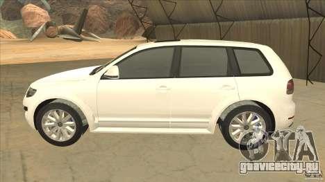 Volkswagen Touareg R50 для GTA San Andreas вид слева