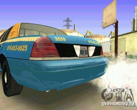 Ford Crown Victoria 2003 Taxi Cab для GTA San Andreas вид справа