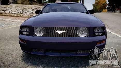 Ford Mustang для GTA 4 вид изнутри