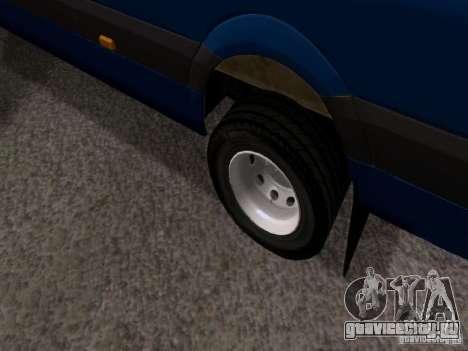 Volkswagen Crafter XL для GTA San Andreas вид сбоку