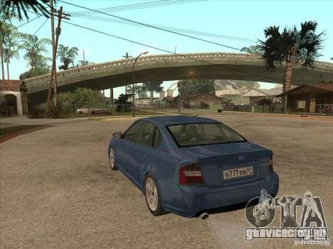 Subaru Legacy 3.0 R для GTA San Andreas вид сзади слева